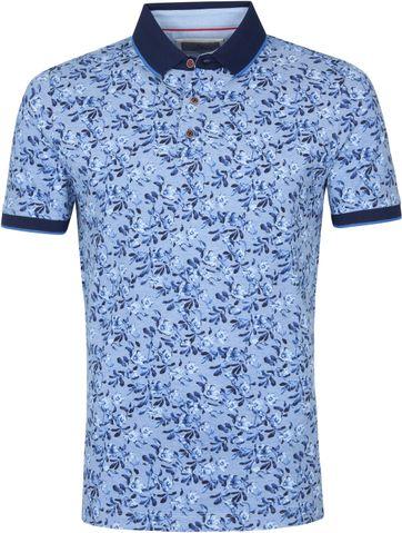 Suitable Prestige Polo Shirt Flower Blau