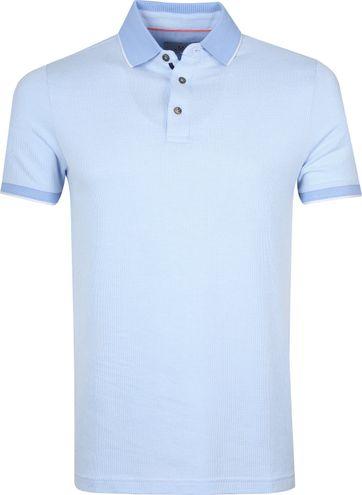 Suitable Prestige Poloshirt Melange Hellblau