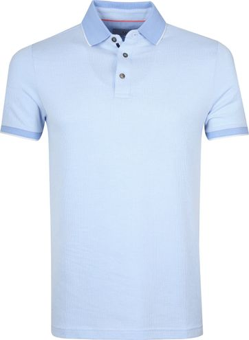 Suitable Prestige Poloshirt Melange Light Blue
