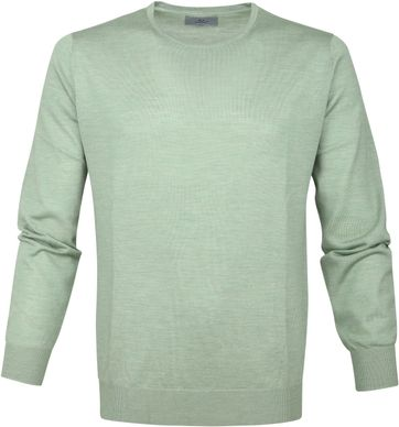 Suitable Prestige Pullover Groen Merino