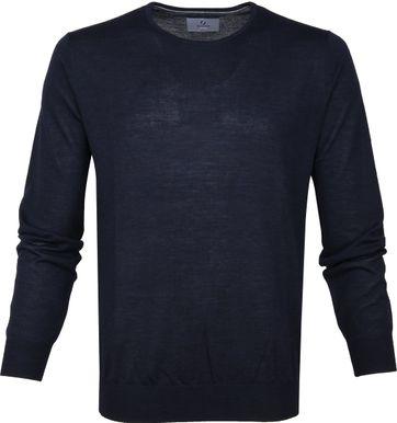 Suitable Prestige Pullover Navy Merino