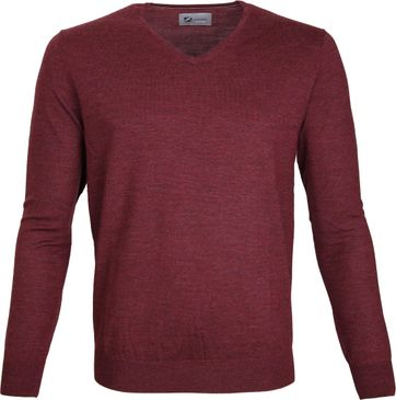 Suitable Prestige Pullover V-Ausschnitt Bordeaux