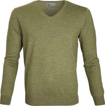 Suitable Prestige Pullover V-Ausschnitt Grün