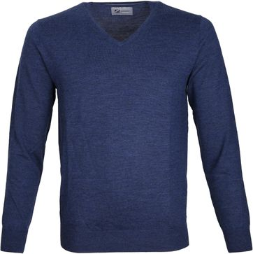 Suitable Prestige Pullover V-Ausschnitt Navy