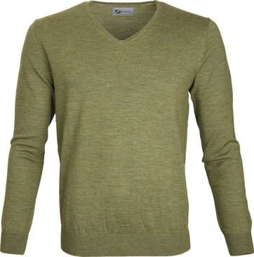 Suitable Prestige Pullover V-hals Groen