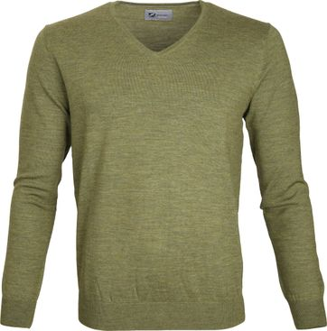 Suitable Prestige Pullover V-Neck Green