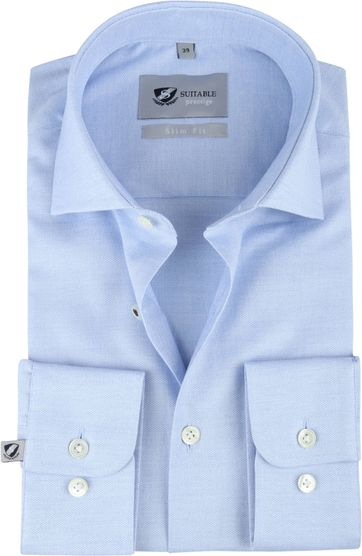 Suitable Prestige Shirt Mouline Light Blue