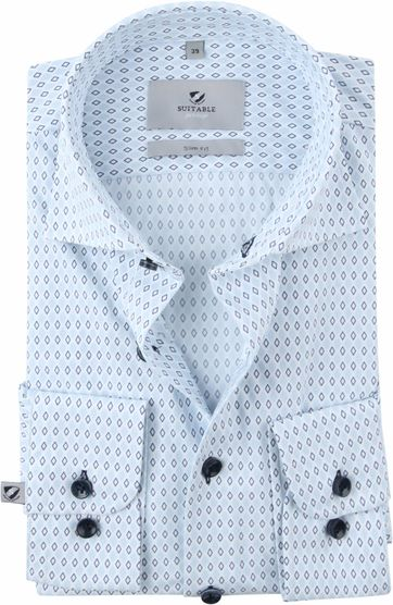 Suitable Prestige Shirt Print Light Blue
