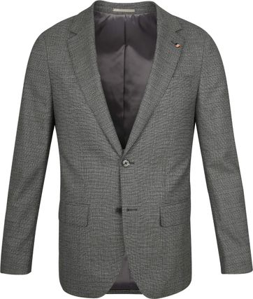 Suitable Prestige Suit Faux Checks Dark Green