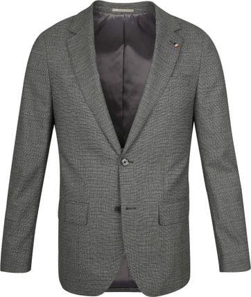 Suitable Prestige Suit Faux Checks Dark Green