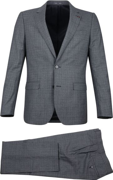 Suitable Prestige Suit Faux Checks Grey