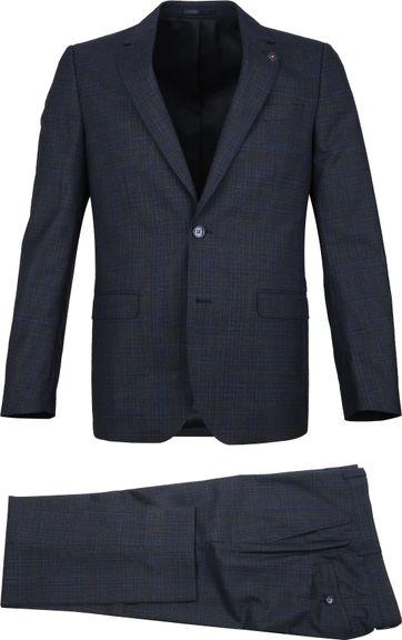Suitable Prestige Suit Faux Checks Navy