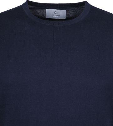 Suitable Prestige T-Shirt Gestrickt Dunkelblau