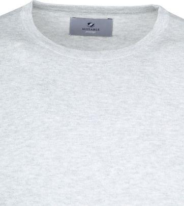 Suitable Prestige T-shirt Knitted Grijs