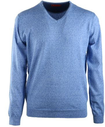 Suitable Pull V-Hals Blauw