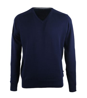 Suitable Pull V-Hals Donkerblauw