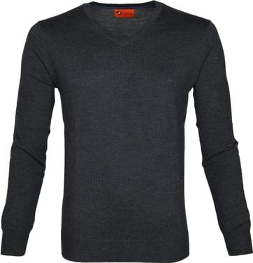 Suitable Pullover Aron Merino Antraciet