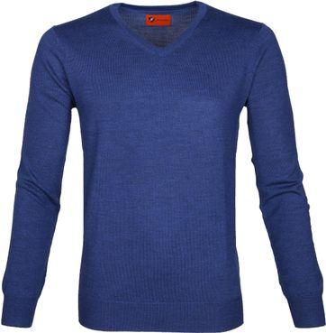 Suitable Pullover Aron Merino Blau