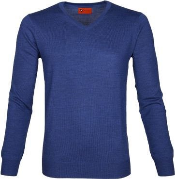 Suitable Pullover Aron Merino Blauw