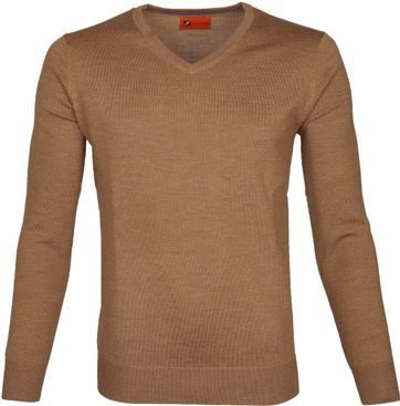 Suitable Pullover Aron Merino Camel