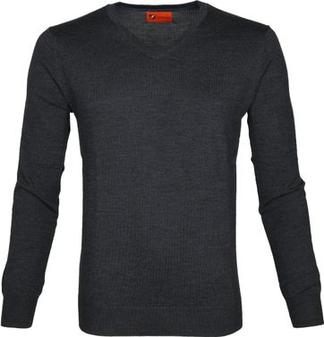 Suitable Pullover Aron Merino Dunkelgrau