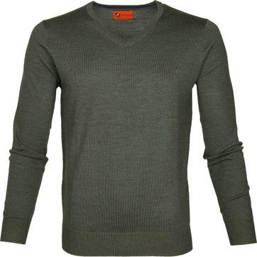Suitable Pullover Aron Merino Green