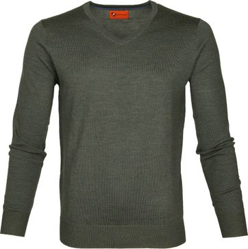 Suitable Pullover Aron Merino Groen