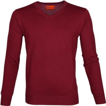 Suitable Pullover Aron Merino Rood