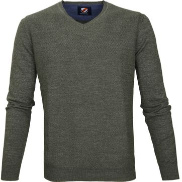 Suitable Pullover Basket Armee