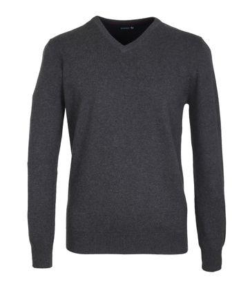 Suitable Pullover Baumwolle Dunkelgrau