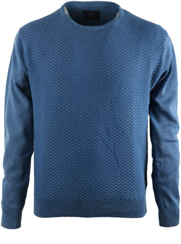 Suitable Pullover Blau Dreieck