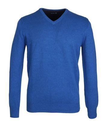 Suitable Pullover Blauw Katoen