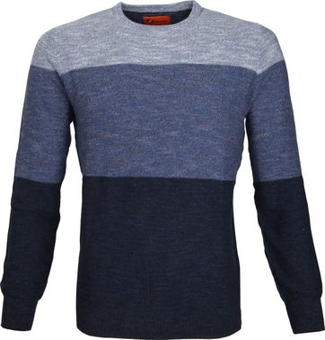 Suitable Pullover Colour Blocks Blau