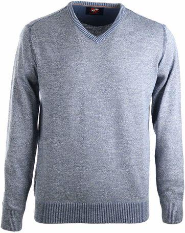 Suitable Pullover Cotton Blue