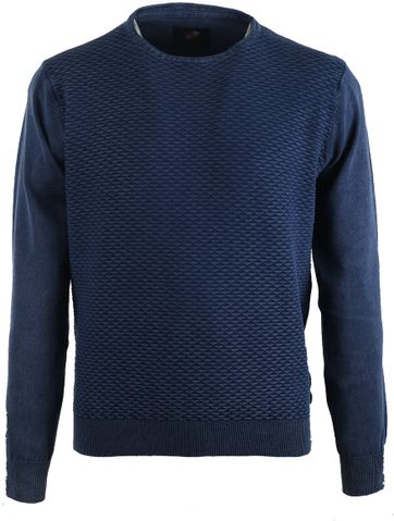 Suitable Pullover Donkerblauw Triangle