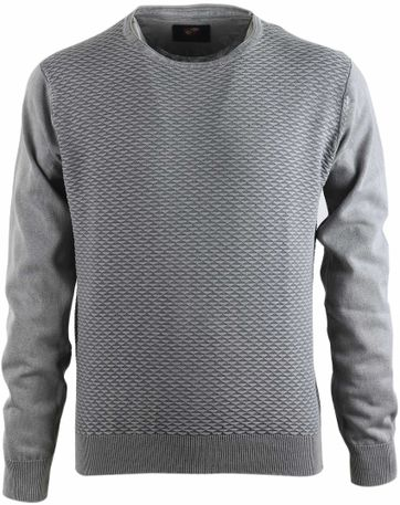 Suitable Pullover Grau Dreieck