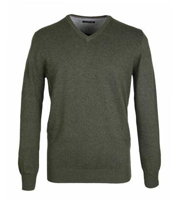 Suitable Pullover Groen Katoen
