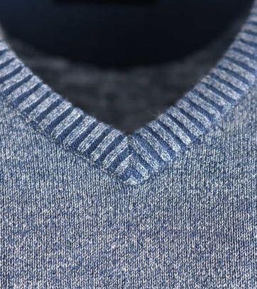 Detail Suitable Pullover Katoen Blauw