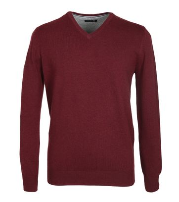 Suitable Pullover Katoen Bordeaux