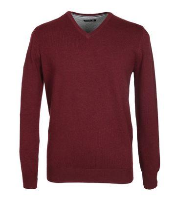 Suitable Pullover Katoen Bordeaux