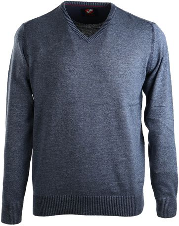 Suitable Pullover Katoen Donkerblauw