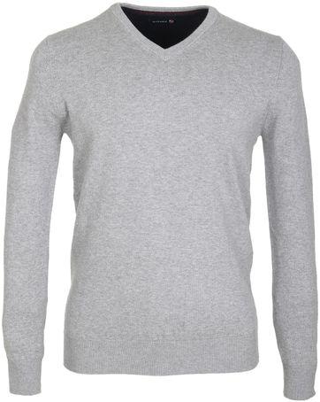 Suitable Pullover Katoen Grijs