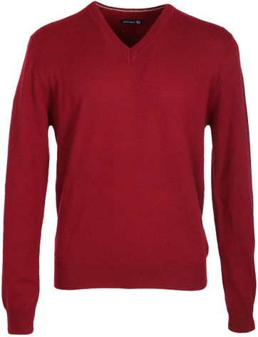 Suitable Pullover Lammwolle Bordeaux