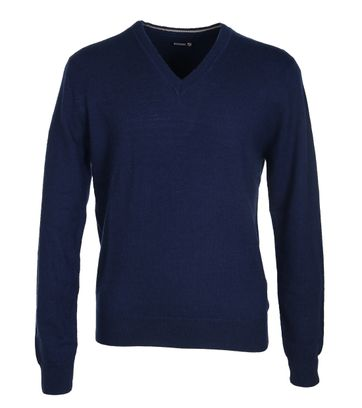 Suitable Pullover Lammwolle Dunkelblau