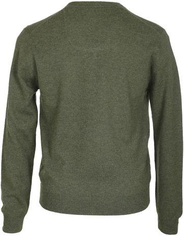 Detail Suitable Pullover Lamswol Legergroen