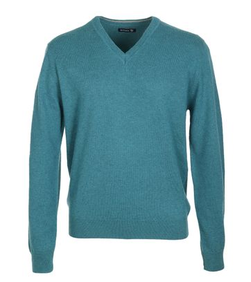 Suitable Pullover Lamswol Petrol