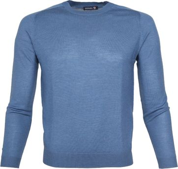 Suitable Pullover Merino Blauw
