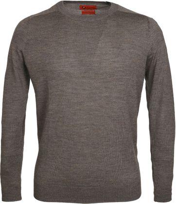 Suitable Pullover Merino Braun