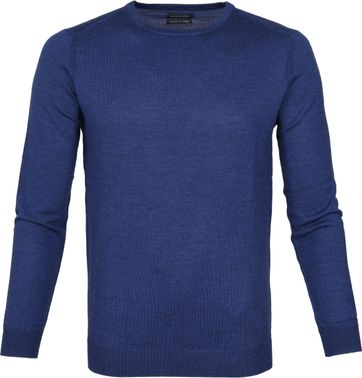 Suitable Pullover Merino Rick Blau