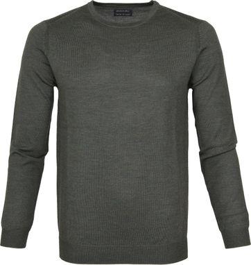 Suitable Pullover Merino Rick Dunkelgrün